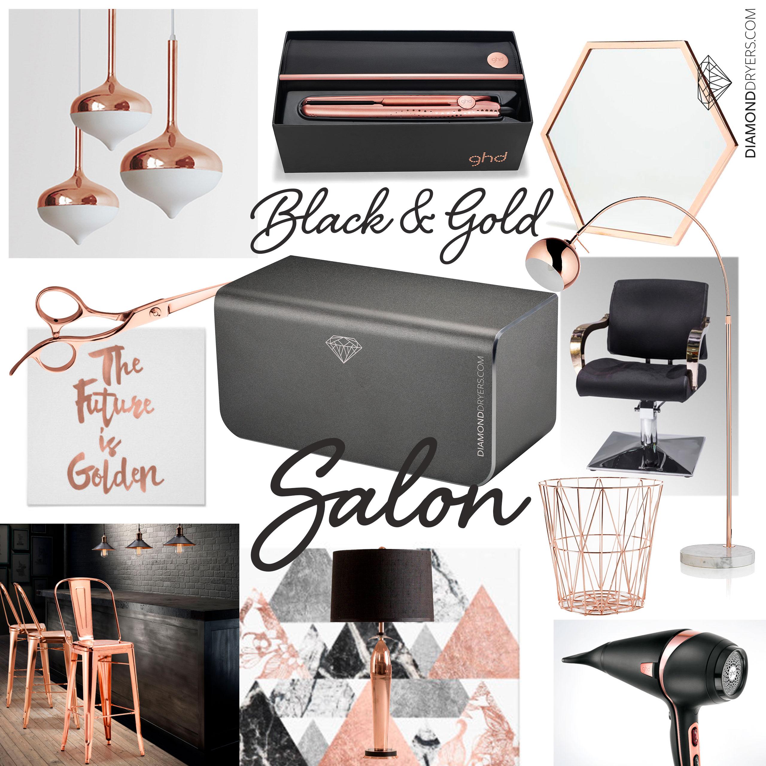 Black And Gold Salon Creativehobbystore